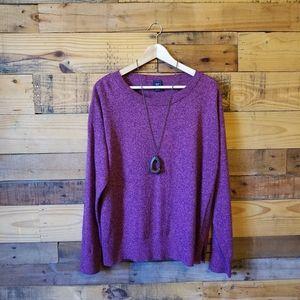 GAP Oversized Plum Cozy Sweater XL